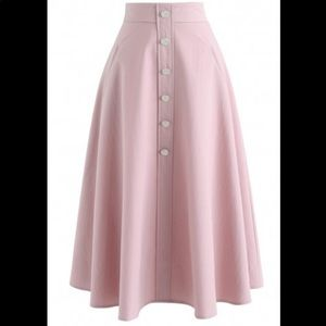 Chic Wish Live For Now Skirt Blush Pink Ci…